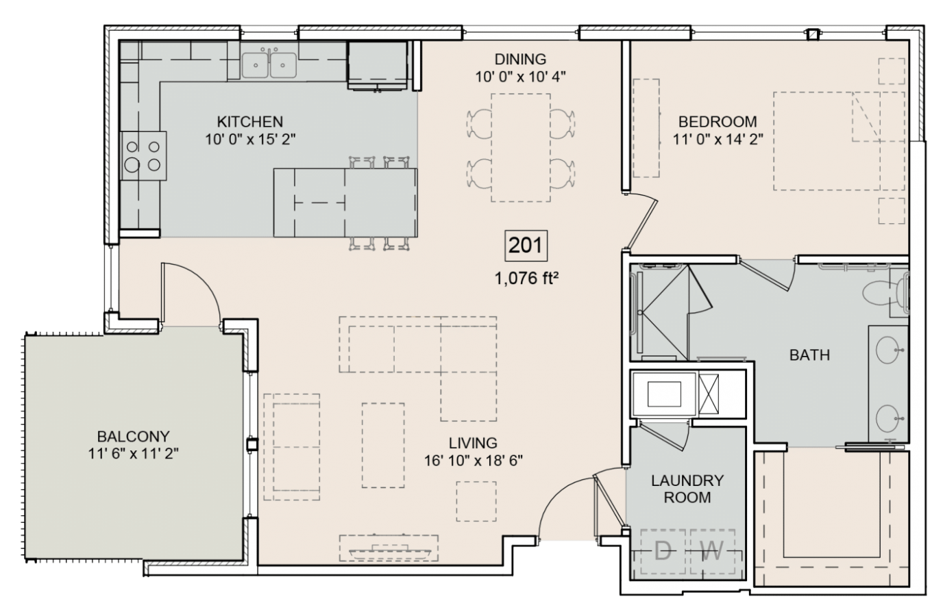 The Bower Floorplan Antoine 201
