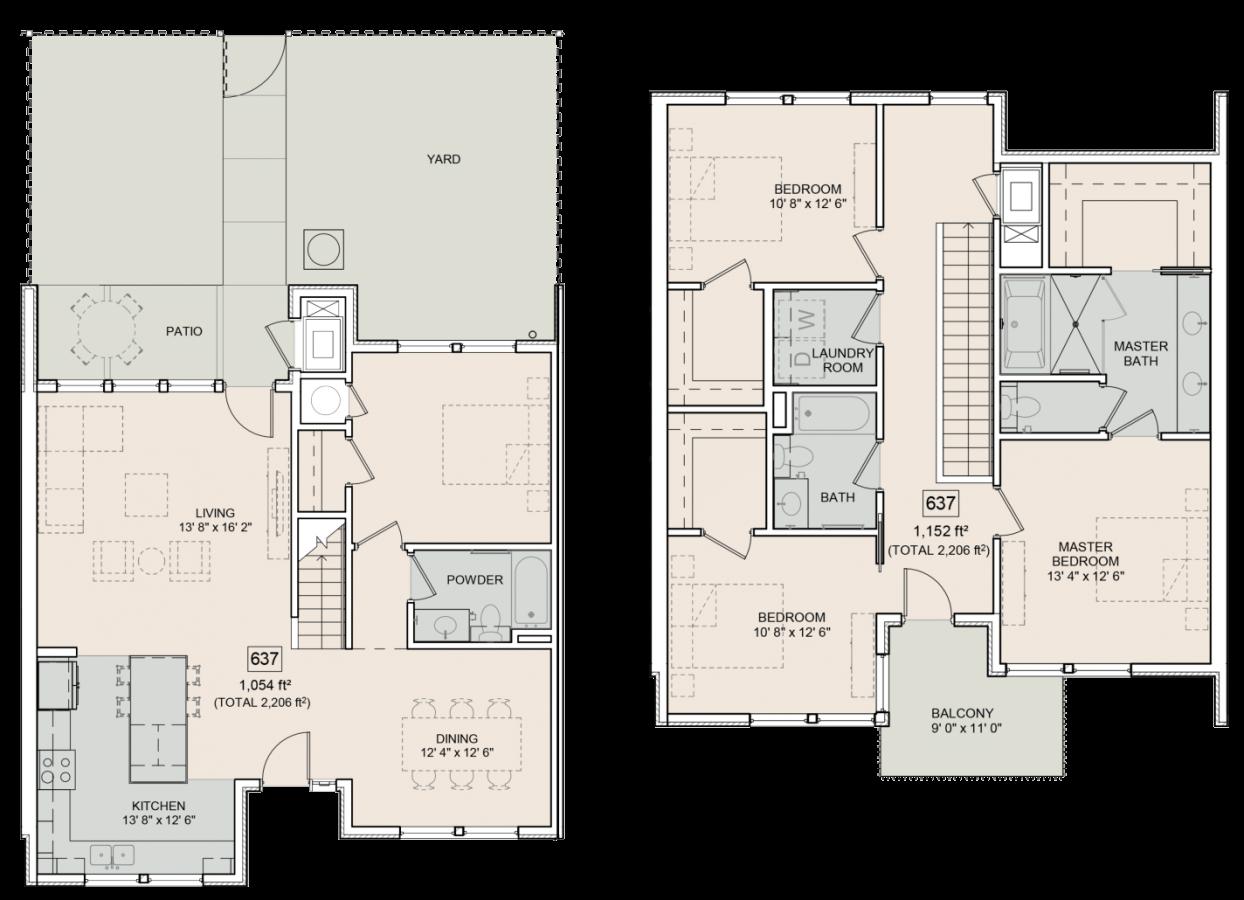 The Bower Floorplan Beverly 637