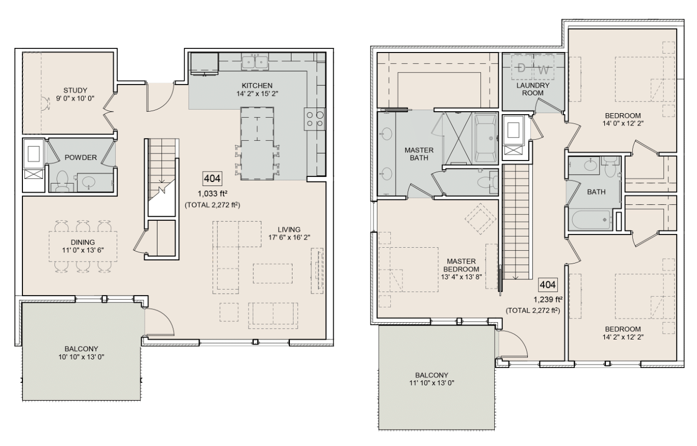 A Hemmingway unit with 3 Bedrooms and 3 Bathrooms with area of 2272 sq. ft