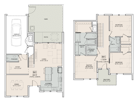 A Pearson unit with 3 Bedrooms and 3 Bathrooms with area of 2056 sq. ft